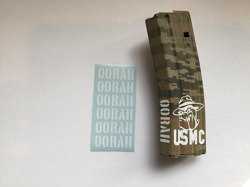 OORAH AR Mag Side Sticker 6 Pack