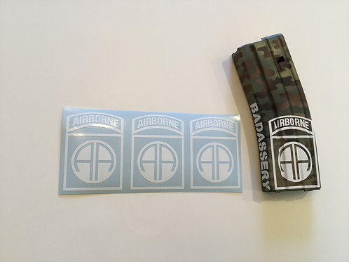 82nd Airborne AR Mag Sticker 3 Pack