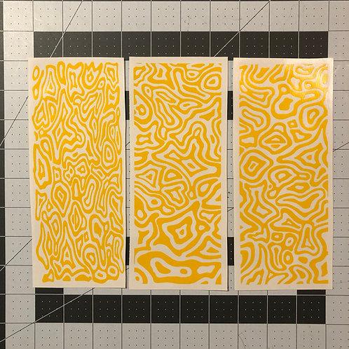 Topoflage 2.0 Stencil 3 pack for Handgun Slide