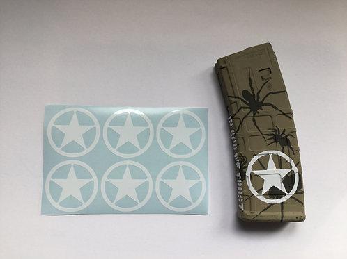 Texas Ranger Badge AR Mag Sticker 6 Pack