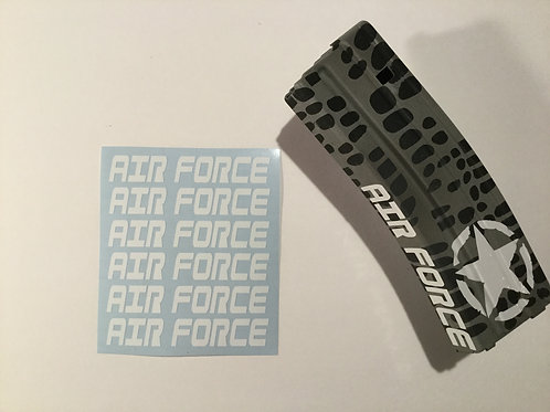 AIR FORCE AR Mag Side Sticker 6 Pack