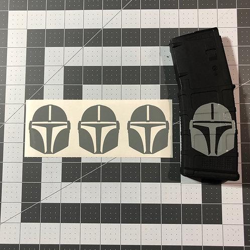 Mando the Mandalorian Mask Vinyl Sticker 3 pack or 6 pack