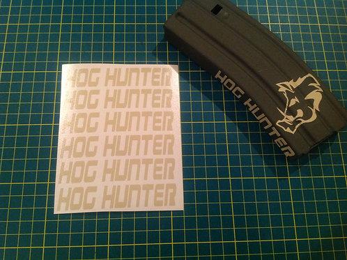 Hog Hunter AR Mag Side Sticker 6 Pack