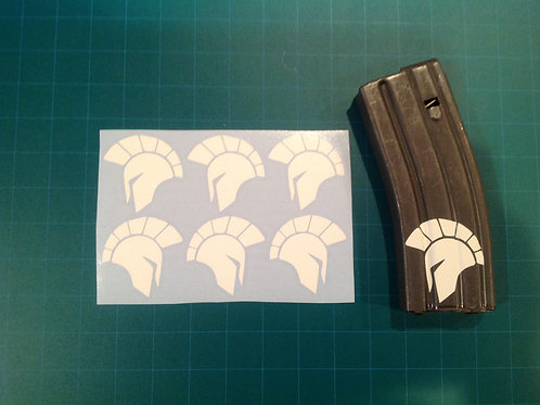 Side Spartan Helmet Sticker 6 Pack