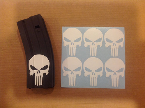 Punisher Skull Sticker 6 Pack