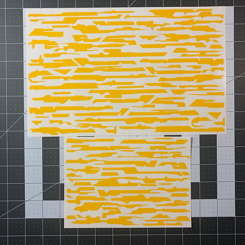 Techno Tiger Stripe Stencil Pack