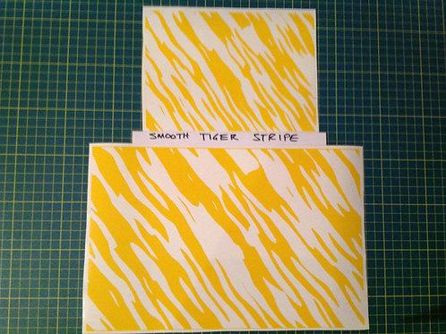 Smooth Tiger Stripe (Zebra) Stencil Pak