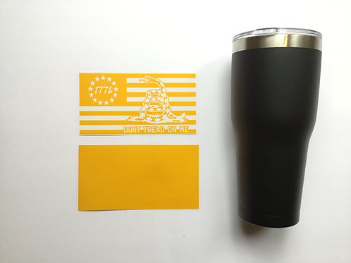 1776 Flag and Dont Tread on Me compilation Tumbler or Growler Stencil