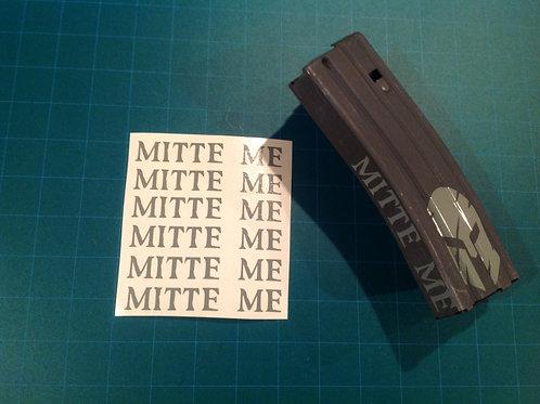 MITTE ME AR Mag Side Sticker 6 Pack