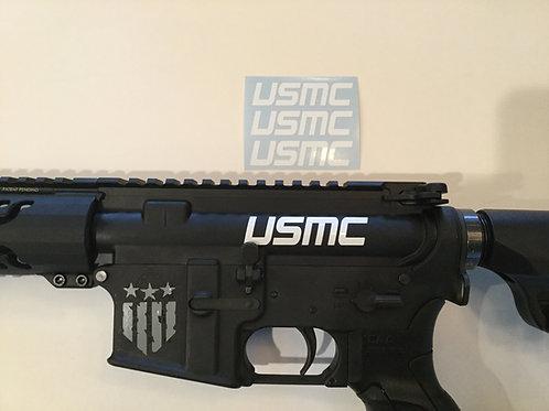 USMC AR 15 Upper Receiver Sticker 3 Pack