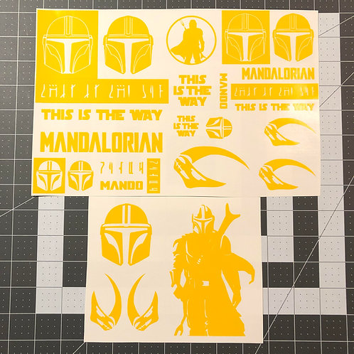 MANDO The Mandalorian Theme Stencil Pack