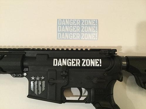 Danger Zone! AR 15 Upper Receiver Sticker 3 Pack