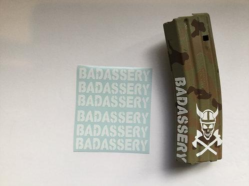 Badassery AR Mag Side Sticker 6 Pack
