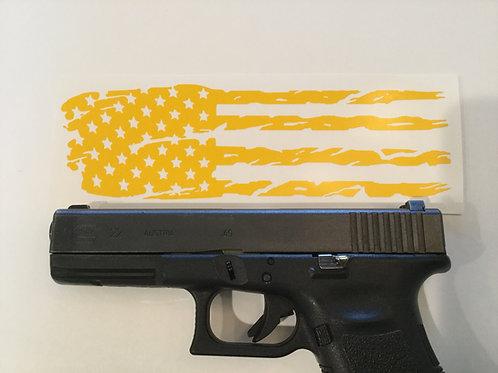 Tattered American Flag Pistol Slide Stencil