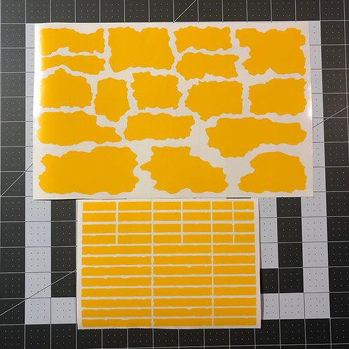 T Block Camo Stencil Pack