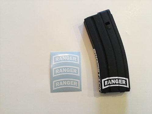 Ranger Patch AR Mag Sticker 3 Pack