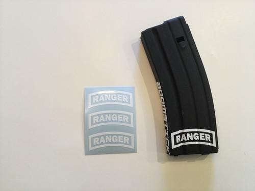 Stencil Vinyl Weapon Stickers Mag Stickers