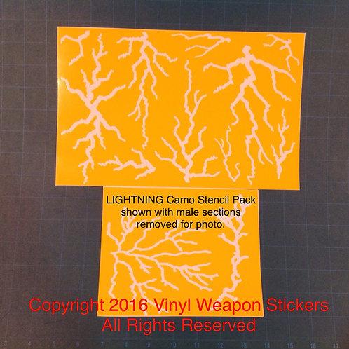 Lightning Camo Stencil Pack