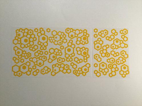 Hexablob Camo Stencil