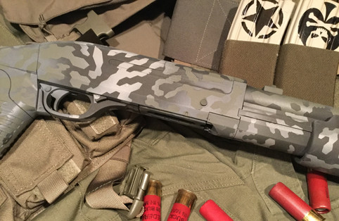 Distorted Hexical Stencil Pack on a shotgun build!