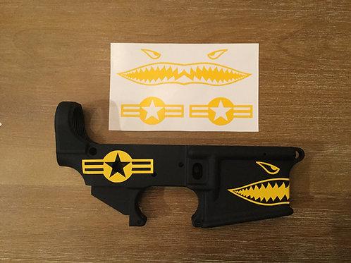 Flying Tiger Shark Teeth Stencil Pack for AR