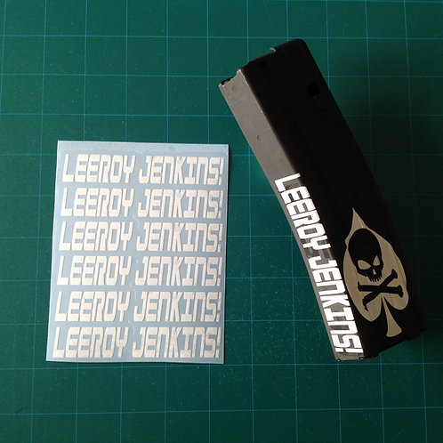 LEROY JENKINS! AR Mag Side Sticker 6 Pack