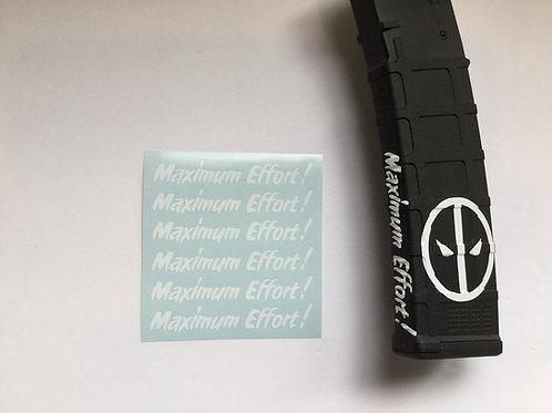 MAXIMUM EFFORT! Deadpool themed AR Mag Side Sticker 6 Pack