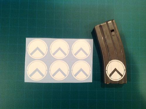 Spartan Shield Sticker 6 Pack