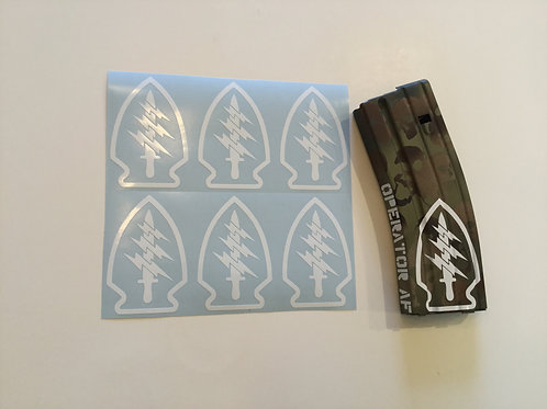 Special Forces Patch AR Mag Sticker 6 Pack