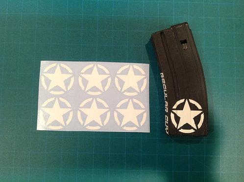 Invasion Star Sticker 6 Pack