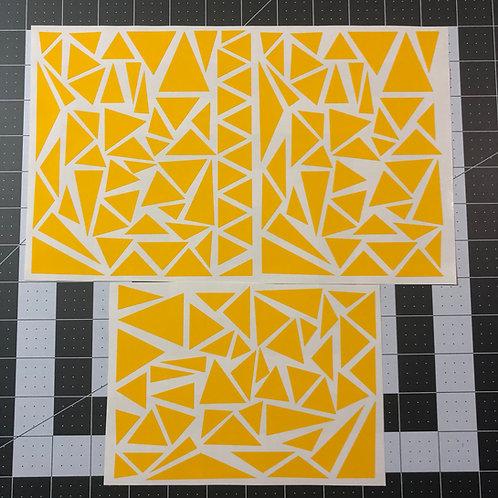 Triangle Cam Stencil Pack