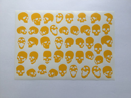 Individual Skulls Stencil