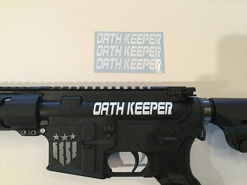 Oath Keeper AR 15 Upper Receiver Sticker 3 Pack