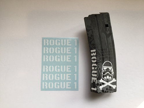 Rogue 1 AR Mag Side Sticker 6 Pack