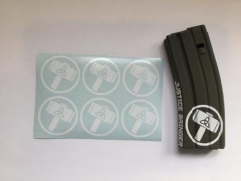 Thors Symbol (Mjolnir Hammer) AR Mag Sticker 6 Pack