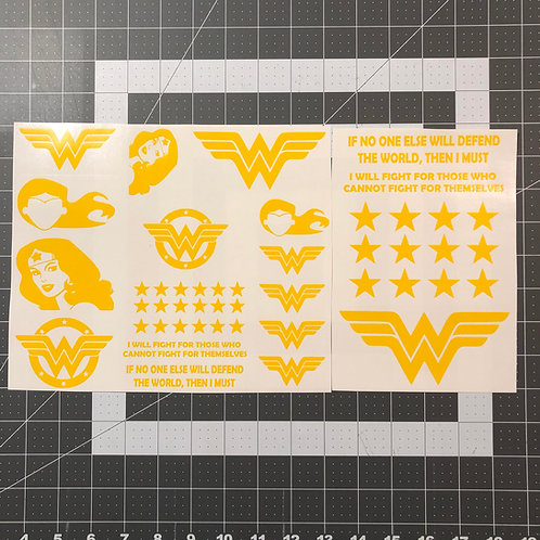Wonder Woman Theme Stencil Pack