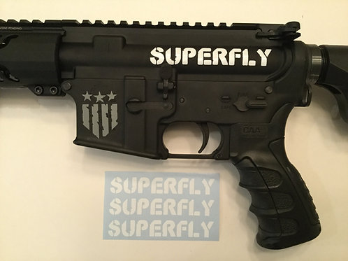 Superfly AR 15 Upper Receiver Sticker 3 Pack