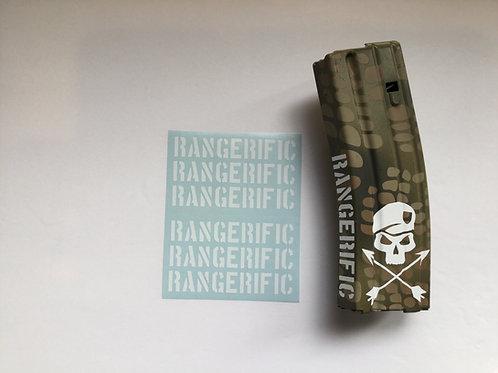 Rangerific AR Mag Side Sticker 6 Pack