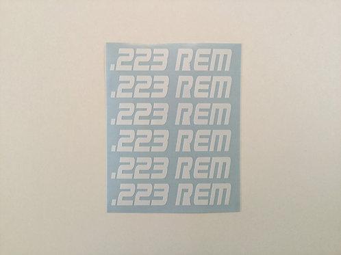 .223 REM AR Mag Side Sticker 6 Pack
