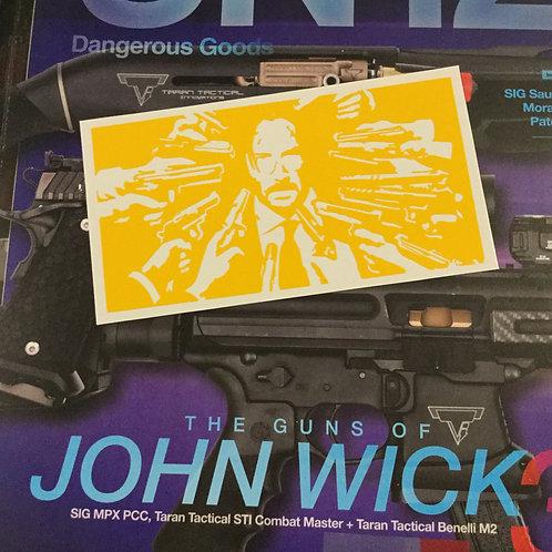 John Wick Tumbler or Growler Stencil
