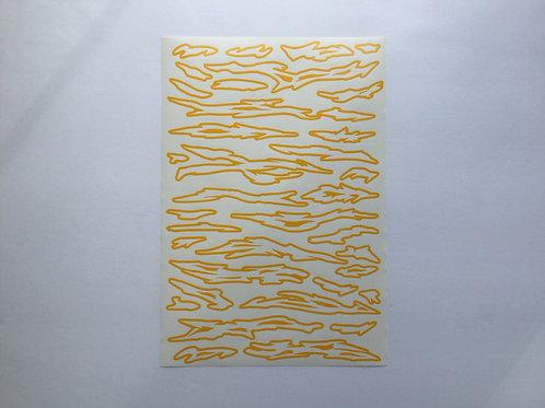 Topo Tigerflage Camo Stencil