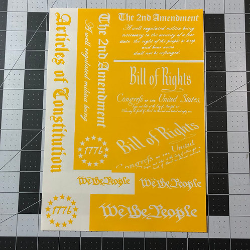 Bill of Rights Second Amendment Stencil Pack