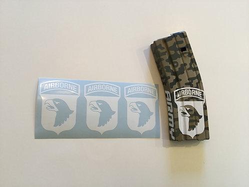 101st Airborne AR Mag Sticker 3 Pack