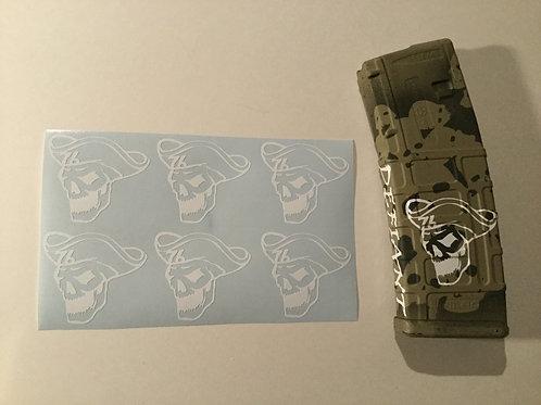 Colonial Skull AR Mag Sticker 6 Pack