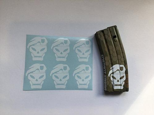 MAC V SOG Skull AR Mag Sticker 6 Pack