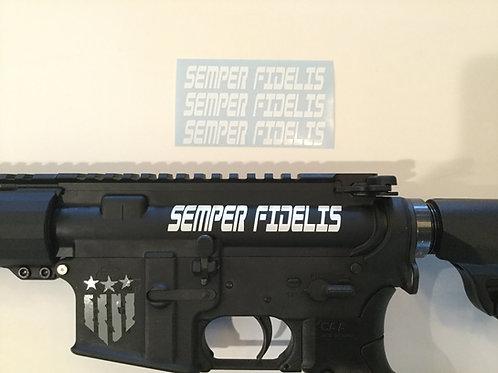 Semper Fidelis AR 15 Upper Receiver Sticker 3 Pack