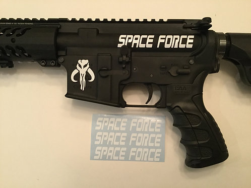 Space Force AR 15 Upper Receiver Sticker 3 Pack