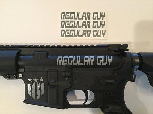 Regular Guy AR 15 Upper Receiver Sticker 3 Pack