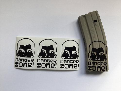 Archer Danger Zone AR Mag Sticker 3 Pack