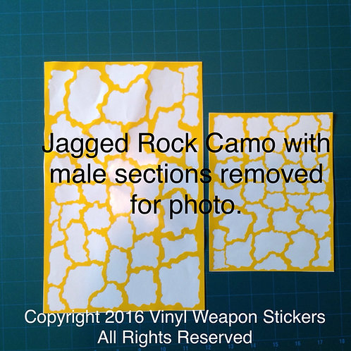 Jagged Rock Camo Stencil Pack